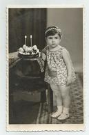 Girl-birthday With Cake Pose For Photo Re249-110 - Personnes Anonymes