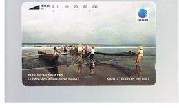 INDONESIA - TELKOM  - FISHERMEN  - USED - RIF. 10374 - Indonesia
