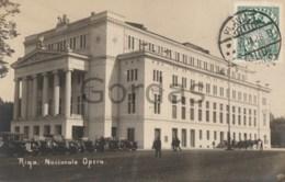 Latvia - Riga - Nacionala Opera - Old Time Car - Latvia