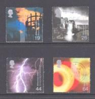Great Britain 2000 Millenium Projects: Fire & Light Set Of 4 Used - 1952-.... (Elizabeth II)