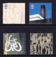 Great Britain 2000 Millenium Projects: Art & Craft Set Of 4 Used - 1952-.... (Elizabeth II)