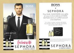 Carte Promo Perfume Card BOSS BOTTLED * HUGO BOSS * SEPHORA * R/V - Perfume Cards