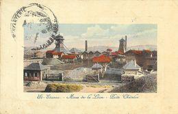 St Saint-Etienne - Puits Châtelus, Mines De La Loire, Carte Colorisée - Saint Etienne