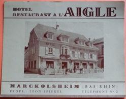 DEPLIANT PUBLICITAIRE MARCKOLSHEIM - 67 - HOTEL RESTAURANT A L' AIGLE - PLUSIEURS SCANS - Publicités