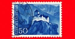 LIECHTENSTEIN - Usato - 1959 - Castelli - Montagne - Paesaggi - Castello Di Vaduz - 50 - Liechtenstein
