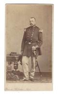 CDV HOMME MILITAIRE  BRUXELLES PHOTO MAES FOTO MAN   BRUSSEL. - Anciennes (Av. 1900)