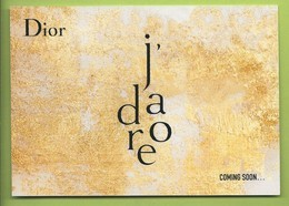 JADORE* POSTCARD - Perfume Cards