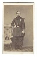 CDV HOMME MILITAIRE  BRUXELLES PHOTO JACOBY FOTO MAN   BRUSSEL. - Anciennes (Av. 1900)