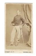 CDV HOMME MILITAIRE  BRUXELLES PHOTO MAYER ET PIERSON FOTO MAN   BRUSSEL. - Anciennes (Av. 1900)