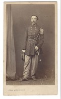 CDV HOMME MILITAIRE  BRUXELLES PHOTO MITKIEWICZ FOTO MAN   BRUSSEL. - Anciennes (Av. 1900)