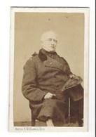 CDV BRUXELLES HOMME MILITAIRE ANCIEN COLONEL DE CAVALERIE IDENTIFIE  PHOTO BARON ET MITKIEWICZ FOTO MAN   BRUSSEL. - Anciennes (Av. 1900)