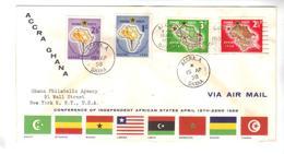 8114- Ghana , Scott 21-24 FDC - Ghana (1957-...)