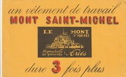 Rare Buvard Vêtement De Travail Mont Saint-michel - Buvards, Protège-cahiers Illustrés