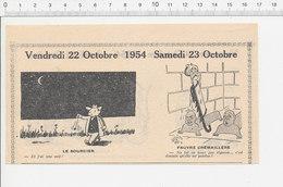 2 Scans 1954 Humour Bicarbonate Avaleur De Sabres Roulotte Forains Publicité Café Pendule Sourcier Crémaillère  223XC - Vieux Papiers
