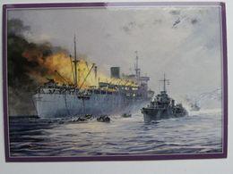 Sinking Polish  ORP Chrobry /  1940 In Vestfjord Near Bodø  / A Werka Painted  / Polish Postcard - Guerra