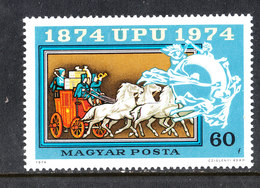 Ungheria  Hungary - 1974. Diligenza A Cavalli. Horse Diligence. MNH - Diligenze