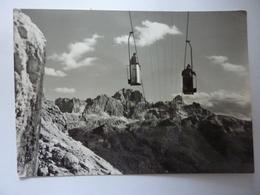 """Cartolina """"Telecabina Del Monte Cristallo"""" Timbro Rifugio Anni '50 - Italia"""