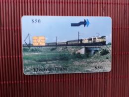 Phonecard Zimbabwe Train 50 $ Used - Zimbabwe