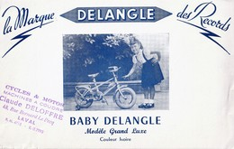 Rare Buvard Vélo Baby Delangle Modèle Grand Luxe - Autres