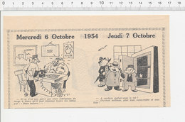 2 Scans 1954 Humour Usine Rouge à Lèvres Cheminées Casse Coffre-fort Duel Escrime Sport Fakir Guillotine Exécution 223XC - Vieux Papiers