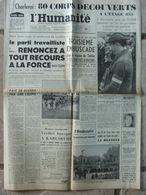 Journal L'Humanité (14 Août 1956) Charleroi/Marcinelle - Avant Onférence Londres - Algérie Région Tablat - 1950 - Oggi