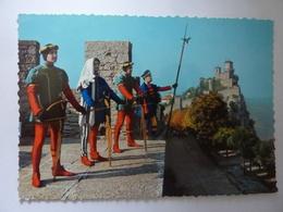 "Cartolina ""Repubblica Di San Marino - Prima Torre E Balestrieri"" Anni '60 - Saint-Marin"