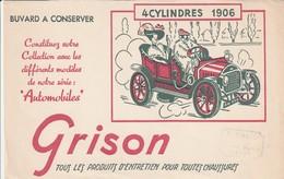 Rare Buvard Grison Entretien Chaussures Voiture 4 Cylindres 1906 - Autres