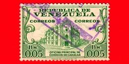VENEZUELA - Usato - 1958 - Uffici Postali - Main Post Office - 0.05 - Venezuela