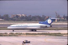 SLIDE / AVION / AIRCRAFT   KODAK  ORIGINAL  DAN AIR LONDON  B 727  G-BIUR - Diapositives