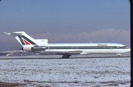 SLIDE / AVION / AIRCRAFT   KODAK  ORIGINAL  ALITALIA  B 727  I-DIRA - Diapositives