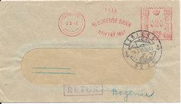 Denmark Postal Stationery Bank Cover  A/S Bogense Bank Sent To Esbjerg 3-3-1949 And Returned - Postal Stationery