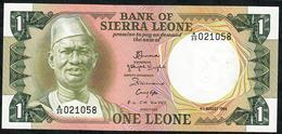 SIERRA LEONE P5e 1 LEONE 1984   # A/35    UNC. - Sierra Leona