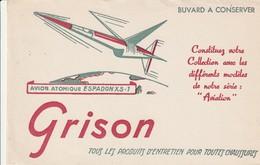 Rare Buvard Grison Entretien Chaussures Avion Atomique Espadon XS-1 - Autres