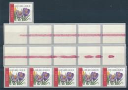 R106 - Krokus -  Rode Lijn - Laatste 10 En Laatste 5 Zegels - Rouleaux
