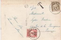 Bekgique Carte Taxée Tournai 1933 - België