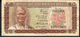 SIERRA LEONE P4a 50 Cents  ND    D/1 1984   AVF No P.h. - Sierra Leona