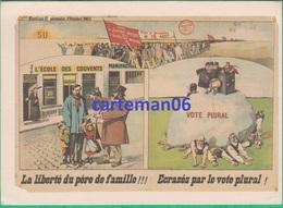 """Politique - CPM - Elections Communales 1911 - L""""école Des Couvents - Coll Albin Vandam - Michotte Bruxelles - Partidos Politicos & Elecciones"""