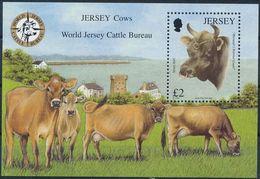 "Jersey 2008: ""Cows & Bull"" Michel-No. 1349 = Block 67 ** MNH - START BELOW POSTAL FACE VALUE (£ 2.00) - Cows"