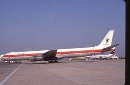 SLIDE / AVION / AIRCRAFT   KODAK  ORIGINAL    EAGLE AIR  DC 8  TF-ISB - Diapositives