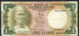 SIERRA LEONE P5b 1 Leone 1978  AVF - Sierra Leone