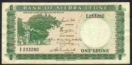 SIERRA LEONE P1b 1 Leone 1969  # A/8    AVF - Sierra Leona