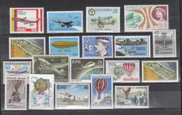 Europa Und Alle Welt ** Lot Von Ca 60 Briefmarken Ballon Und Flugpost - Sonstige - Europa