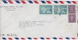 #9133 Cuba, Habana Firm Cover Air Mail Mailed 1947: Antonio Oms Sarret, Jose De La Luz Caballero, Special Pmk. - Cuba