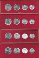ITALIA 2 Set  10 - 5 - 2 -1 LIRA 1946 + 1947 SERIE DIVISIONALE FDC Repubblica Italiana ( 1946 - 2001 ) - 1946-… : Republic