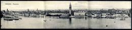 Venezia - Panorama - Cartolina Formato Triplo - Viaggiata In Busta 1918 - Rif.  02252 - Venezia