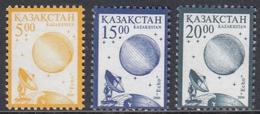 """Kazakhstan 2000 - Definitive Stamps: Satellite """"Echo"""" - Mi 294-296 ** MNH - Kazakhstan"""