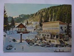 """Cartolina """"Massicio Del Grappa - ALBERGO GENZIANA"""" Anno '60 - Italia"""