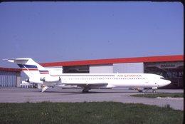 SLIDE / AVION / AIRCRAFT   KODAK  ORIGINAL   AIR CHARTER  B 727  F-GCMV - Diapositives