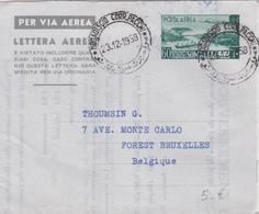 Somalie / Somalia - Entier Postal Lettre Aérienne - Lettera Aerea - 1958 - Somalie (1960-...)