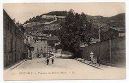 GRENOBLE --1903--L'avenue Du Pont De Pierre (petite Animation )..... Timbre --cachet.....carte Précurseur....à Saisir - Grenoble